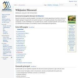 Wikijunior Dinosauri