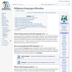 Wikijunior:Languages/Hawaiian