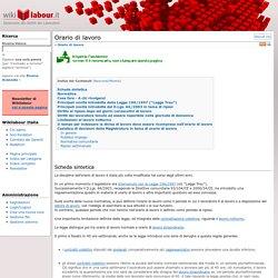 Orario di lavoro - Wikilabour - Dizionario dei diritti dei lavoratori