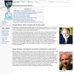 Advisory Board - WikiLeaks