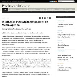 WikiLeaks Puts Afghanistan Back on Media Agenda