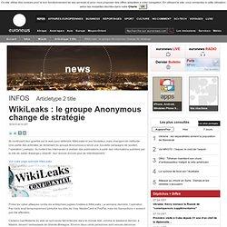 WikiLeaks: le groupe Anonymous change de stratégie