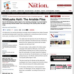 Wikileaks Haiti: The Aristide Files