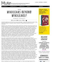 Wikileaks Beyond Wikileaks?