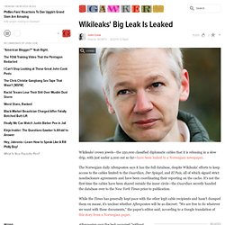 Wikileaks' Big Leak Is Leaked