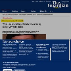 WikiLeaks cables: Bradley Manning faces 52 years in jail | World news