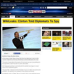 WikiLeaks: Hillary Clinton 'Told Diplomats To Spy In UN' Among Secret US Files Released By Website