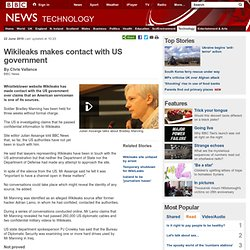 Wikileaks makes contact with US government