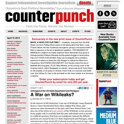 Maximillian C. Forte: A War on Wikileaks?