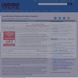 Crisis PR Online: WikiLeaks 10, Bank of America 0