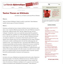 12 Theses on Wikileaks