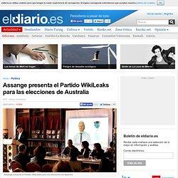 Assange presenta el Partido WikiLeaks para las elecciones de Australia