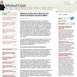 Wikileaks Cables Show Massive U.S. Effort to Establish Canadian DMCA