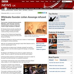 Wikileaks founder Julian Assange refused bail