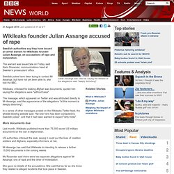 Wikileaks founder Julian Assange accused of rape