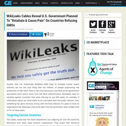 "WikiLeaks Cables Reveal U.S. Government Planned To ""Retaliate & Cause Pain"" O..."