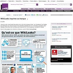 WikiLeaks imprime sa marque