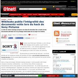 Wikileaks publie l'intégralité des documents volés lors du hack de Sony Pictures. 17/04/2015