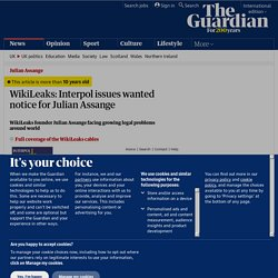 WikiLeaks: Interpol issues wanted notice for Julian Assange | Media
