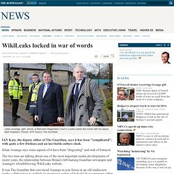 WikiLeaks locked in war of words