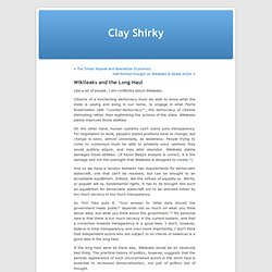 Opinion WL by Clay Shirky