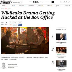 Wikileaks Box Office Bomb: 'Fifth Estate' May Only Hit $2 Million