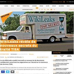 WikiLeaks révèle de nouveaux secrets du traité TiSA
