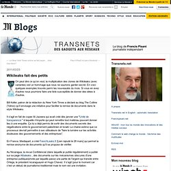 Wikileaks fait des petits - Transnets - Blog LeMonde.fr