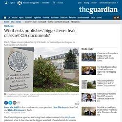WikiLeaks publishes 'biggest ever leak of secret CIA documents'