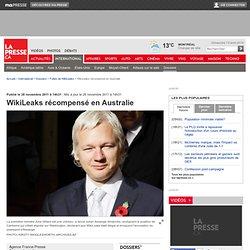 WikiLeaks récompensé en Australie