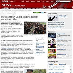 Wikileaks: Sri Lanka 'rejected rebel surrender offer'