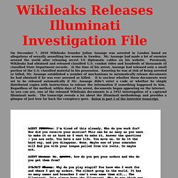 Wikileaks Releases Illuminati Secrets