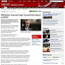 Wikileaks: Iraq war logs 'reveal truth about conflict'