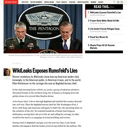 Wikileaks Shows Rumsfeld and Casey Lied about the Iraq War