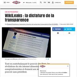 WikiLeaks : ladictature de la transparence