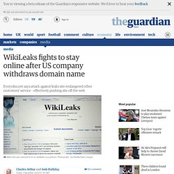WikiLeaks fights to stay online after US company withdraws domain name