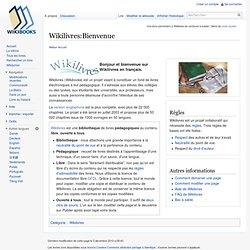 Wikilivres:Bienvenue