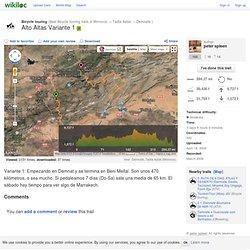 Alto Altas Variante 1 trail - Demnate, Tadla-Azilal (Morocco) - GPS track