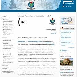 Wikimédia France signe un partenariat avec la BnF