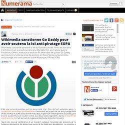 Wikimedia sanctionne Go Daddy pour avoir soutenu la loi anti-piratage SOPA