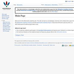 Wikipedia Usability Initiative