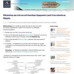 Wikimindmap: pour créer une carte heuristique (topogramme) à partir d'une recherche sur Wikipédia