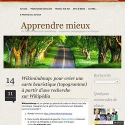 Wikimindmap: pour créer une carte heuristique (topogramme) à partir d'une recherche sur Wikipédia «