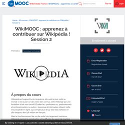 FUN - WikiMOOC : apprenez à contribuer sur Wikipédia !