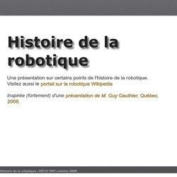 WikiniMST:HistoriqueRobotique