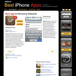 Wikipanion Plus (Best App for Browsing Wikipedia) - Best iPhone