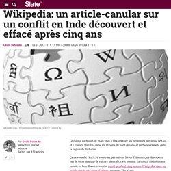 Wikipedia: un article-canular sur un conflit en Inde découvert et effacé après cinq ans