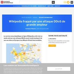 Wikipedia frappé par une attaque DDoS de grande ampleur