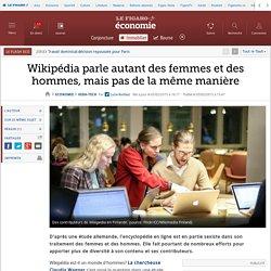 Wikipédia parle autant des femmes et des hommes, mais pas de la même manière