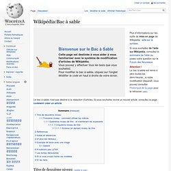 Wikipédia:Bac à sable